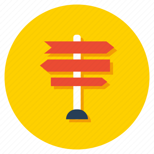 fingerpost, guide post, guideboard, road sign, signboard, signpost icon