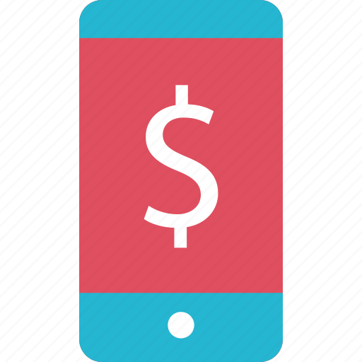 cell, dollar, online, phone icon