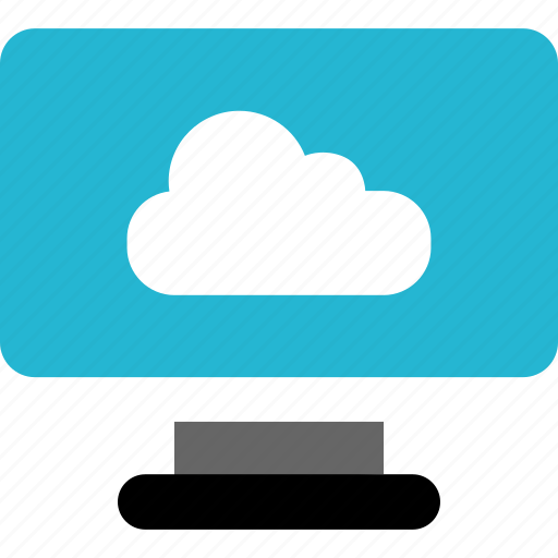 cloud, monitor, online icon