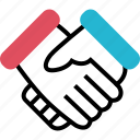 deal, handshake, online icon