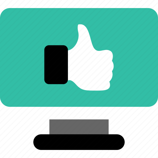 online, thumbs, up icon
