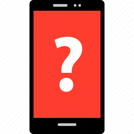 ask, cell, mark, phone, question icon