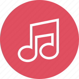 media, music, note, online, web icon