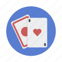 cards, casino, game, hazard, play icon
