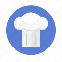 cap, chef, cook, food, hat, restaurant icon