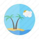 holiday, island, palm, travel, trip, vacation icon