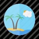 holiday, island, palm, travel, trip, vacation