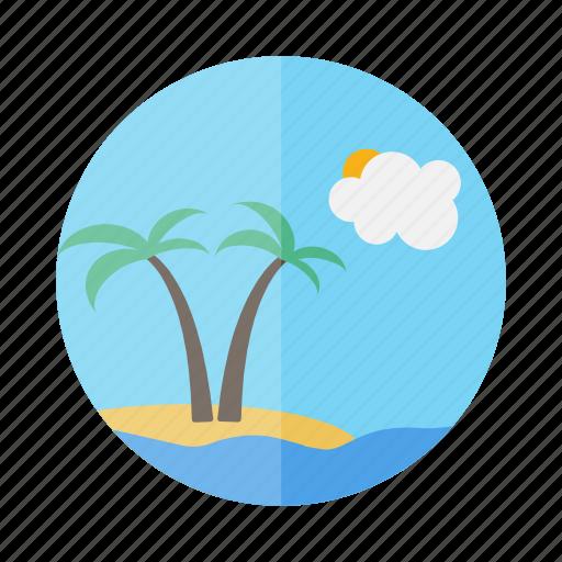 holiday, island, palm, travel, trip, vacation icon