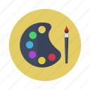 art, brush, design, painting, palette icon