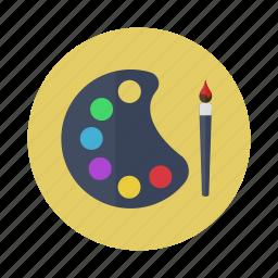 art, brush, design, painting, palette icon