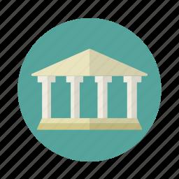 building, exhibition, museum, pillars icon
