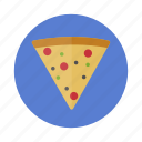 food, meal, pizza icon