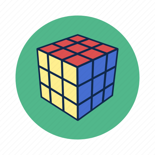 cube, game, play, rubik, think, toy icon