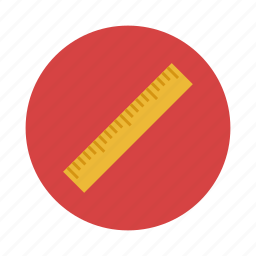 design, measure, ruler, tool icon