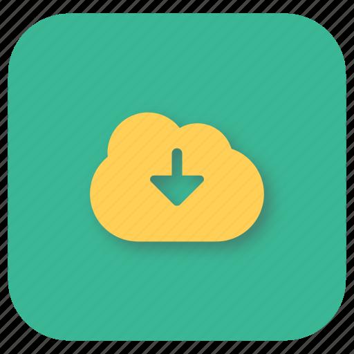 cloud, download, interface, ui, web icon