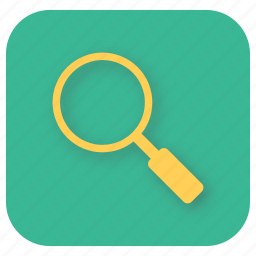fetch, find, interface, magnifying glass, search, ui, web icon