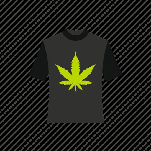 apparel, cannabis, clothing, concept, leaf, marijuana, tee icon