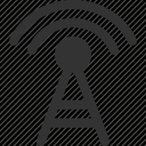 connection, internet, radio, signal, transmit, transmitter, wireless icon