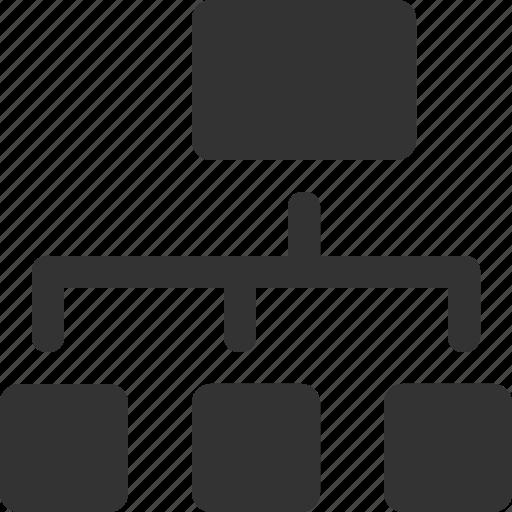 chart, diagram, hierarchy, organization, scheme, sitemap, structure icon