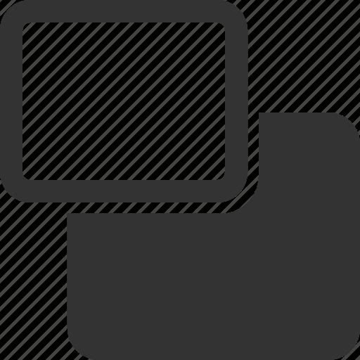 Backward, move, rectangle, shape icon - Download on Iconfinder