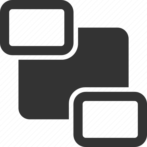 back, move, rectangle, shape icon