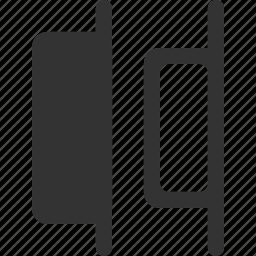 alignment, distribute, positions, right, shape icon