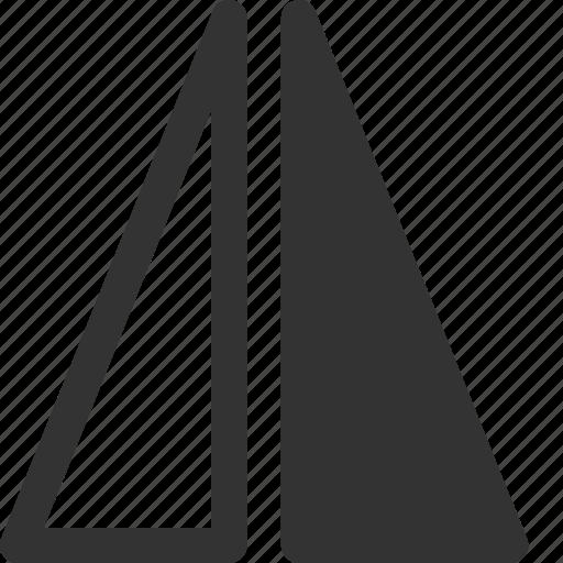 flip, horizontal, left, reflect, right, shape, triangle icon