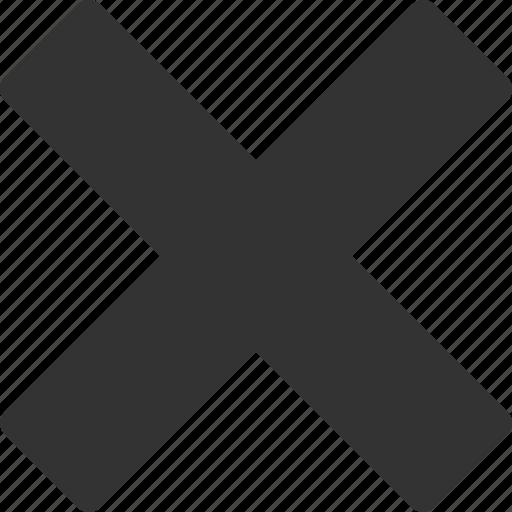 close, cross, delete, remove icon