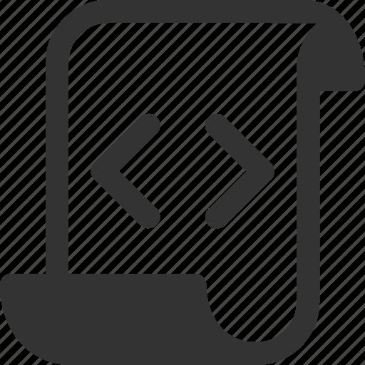 code, document, file, html, programming, script icon