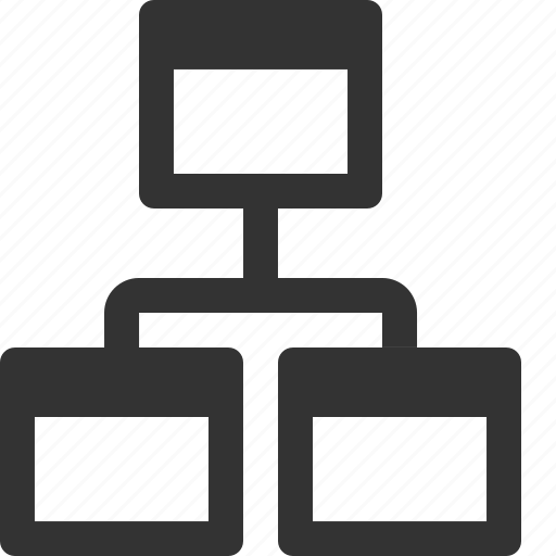 hierarchy, sitemap, structure icon