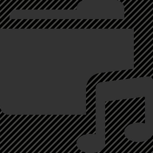 audio, folder, media, music, note, player, sound icon