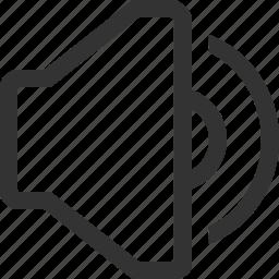 audio, music, mute, sound, sound on, speaker, volume icon