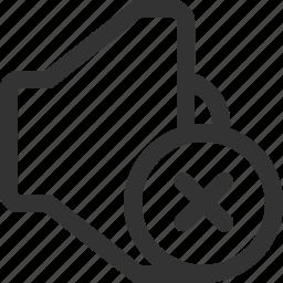 music, mute, off, sound, speaker, stop, volume icon