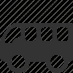 bus, buss, coach, omnibus, shuttle, travel icon