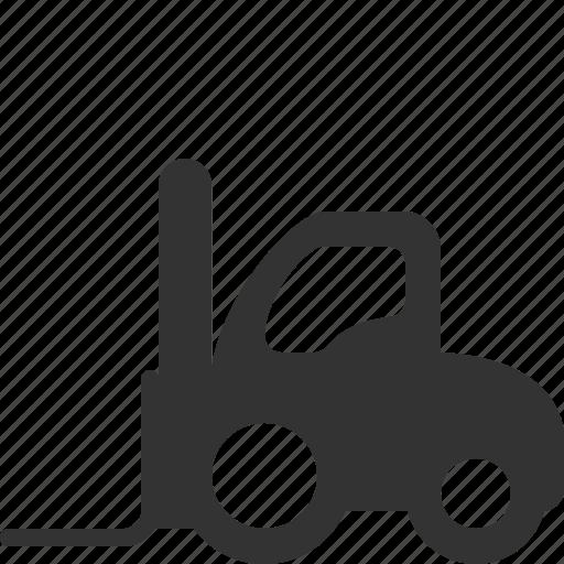 fork, forklift, lift, loader icon
