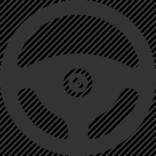 car, helm, steering, steering wheel, wheel icon