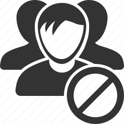 ban, banned, block, group, man, stop, users icon