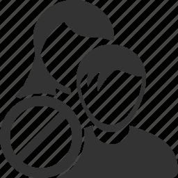 ban, block, group, human, man, people, users icon