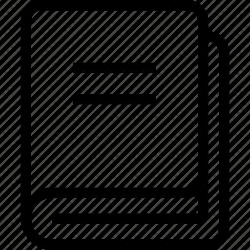 book, catalog, publication, title, volume icon