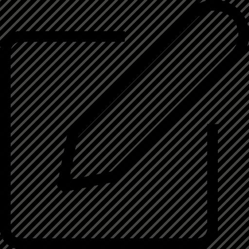 edit, editor, file, text, write icon