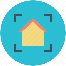 building, focus, house, house search, mortgage concept icon