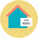 house, real estate, relocation, rent sign, rental concept icon