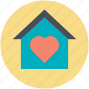 family house, home with heart, house of heart, love home, sweet home icon