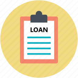 agreement, banking, clipboard, loan contract, loan papers icon