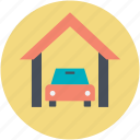 automobile, car garage, car repair, garage service, vehicle icon