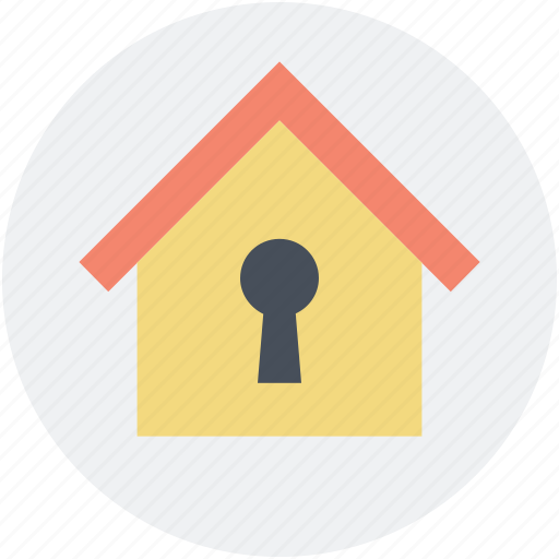 home, home locked, keyhole, mortgage, real estate icon