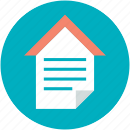 house investment, house loan, mortgage, property papers, rental agreement icon