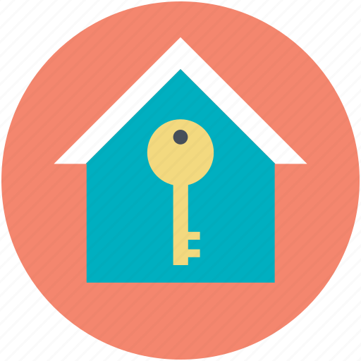 home, home key, key sign, mortgage, real estate icon