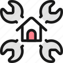 real, estate, settings, house, wrench