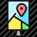 pin, map